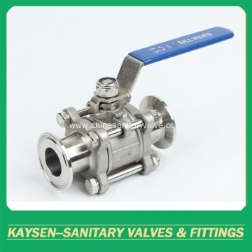 Sanitary Clamp Three  Piece Non-retention Ball Valve